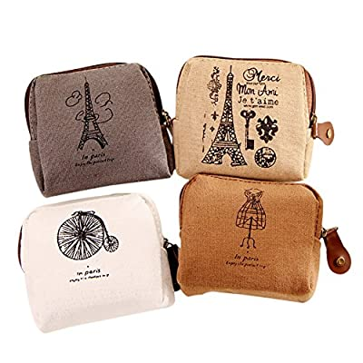 BIGBOBA Mini Canvas Coin Purse Women Wallet Coin Bag Pouch Holder Small Cute Storage Bag For Keys,Headset,Lipstick,Card : everything £5 (or less!)