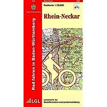 Rhein-Neckar: R751 Radkarte 1:75 000