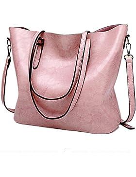jlcorp Frauen Handtasche Schultertasche Messenger Tasche Umhängetasche Handtaschen Geldbörse Tasche mit Reißverschluss