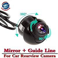 Auto Wayfeng® la visión nocturna cámara de vista trasera del coche de 360 grados Auto Wayfeng® CCD HD revertir la cámara de reserva con la Guía de la imagen de espejo y Parking Line