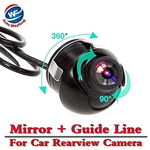 Auto Wayfeng® CCD HD vision de nuit à 360 degrés voiture caméra de recul caméra de recul sauvegarde avec le Guide Mirror Image et Parking Ligne