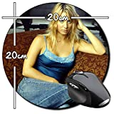 Kaley Cuoco The Big Bang Theory B Tapis De Souris Ronde Round Mousepad PC