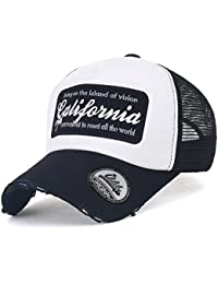 ililily California Embroidery Vintage Distressed Mesh Trucker Hat Baseball Cap