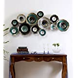 Collectible India Metal Decorative Flowers Wall Hanging Modern 3D Arts Sculpture Home Living Room Decor Art(Size 54 X 23 Inches)