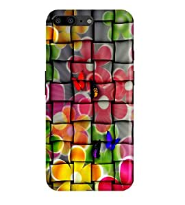 OnePlus 5 Back Cover Designer 3d printed Hard Case Cover for One Plus 5 / OnePlus Five by Gismo - Art Flower check Theme Colorful