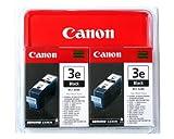 Canon BCI-3EBK, 2er Pack,Tintenpatrone für Drucker (Schwarz, i550, i850, Multipass MP700/C755, PIXMA IP3000/4000/5000, S400/500/600/750, Tintenstrahl, 10–70%, 10–35°C)
