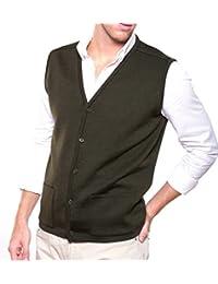 Chaleco ELEGANCE caballero abierto, con botones y bolsillos