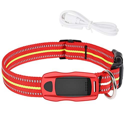 XDYFF Tractive GPS Tracker für Katzen mit Sicherheitsverschluss Global GPS/GSM SIM Standby, Realtime Training Collar Aktivitäten,Red