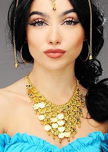 Magic Box Int. Womens Princess Jasmine Style Arabische Münzen Halskette