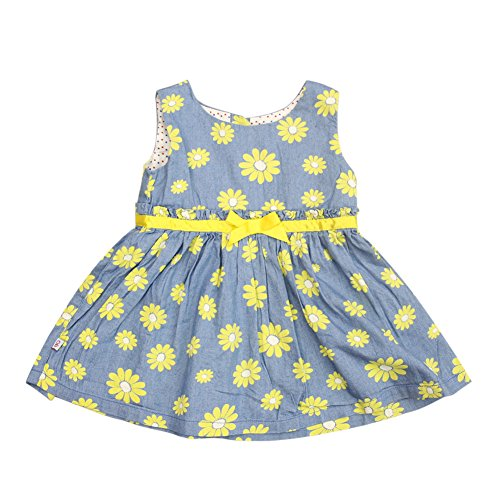 ESHOO Baby Mädchen ärmellose Blume gedruckt Prinzessin Kleider Sommer (Kinder Kleid Gefrorene)
