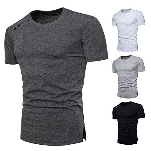 Sports Fous! Top Blouse Hommes Casual Slim T-Shirt à Manches Courtes à glissière Malloom