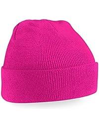 Beechfield Knitted Hat, Fuchsia, One Size one size,Fuchsia