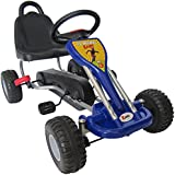 Kiddo Classic Design Blue Kids Childrens Pedal Go-Kart Ride-On Car - Suitable For 3 to 5 Years - New