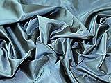 Uni Taft Kleid Stoff Blaugrün–Meterware