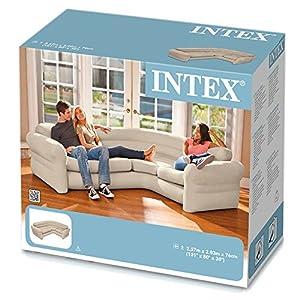 Intex 68575NP - Sofá rinconera hinchable 257 x 203 x 76 cm