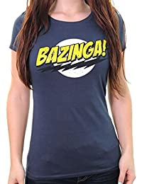 THE BIG BANG THEORY : T-SHIRT FEMME BAZINGA! (S) - COULEUR ANTHRACITE