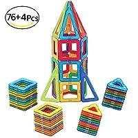 McDou Bloques de Construcción Magnéticos, Conjunto de Construcción Magnética,3D Bloques de Construccion Imantados con Inspira Set Estándar de Construcción Creativos y Educativos para Niños de McDou