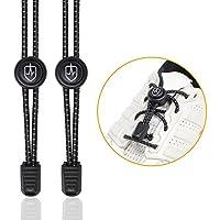 High Pulse Cordones Elasticos para Zapatillas / Un par de cordones elásticos ajustables con cierre rapido para un agarre seguro y comodo (Negro)