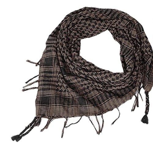 LCLrute 1 STÜCK Unisex Mode Frauen Männer Arabischen Shemagh Keffiyeh Palästina Schal Schal Wrap (Kaffee) (Ein Kleidung Womens Stück)