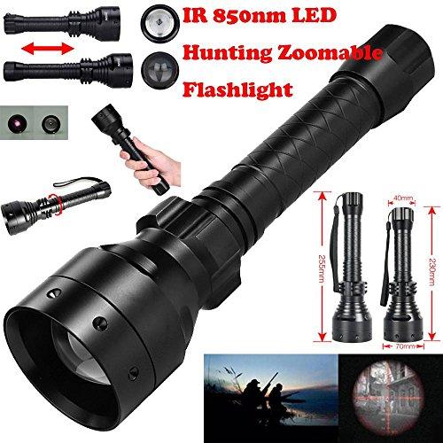 Taschenlampe, hevoiok 10W IR 850nm T67LED Jagd Light Long Range Infrarot-Nachtsicht Taschenlampe 18650Handheld-Licht Lampe Beleuchtung 850 Nm Led