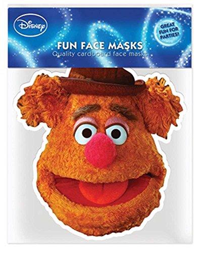 Muppets Fozzy Bear - Papp Maske, aus hochwertigem Glanzkarton mit Augenlöchern, Gummiband - Grösse ca. 30x20 cm