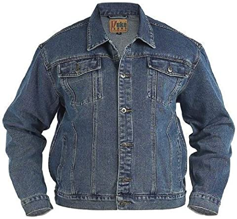 Duke London KS1303 Trucker Mens Stonewash Jacket - Stonewash - 4XL