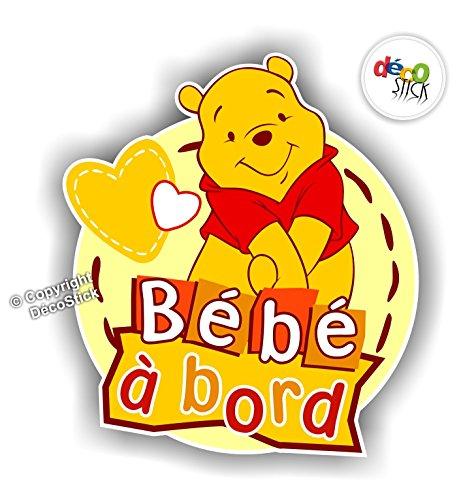 Sticker Bébé à Bord Winnie l'Ourson - Autocollant