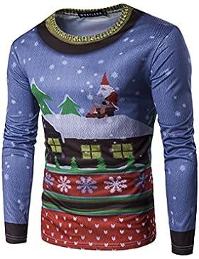 Manga Larga Deportivas Blusa Hombre Camisa Baratas Suéter Navidad Camisetas Superior