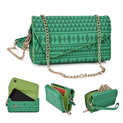Kroo Pochette/Tribal Urban Style Étui pour téléphone portable compatible avec Nokia 208 Brun vert