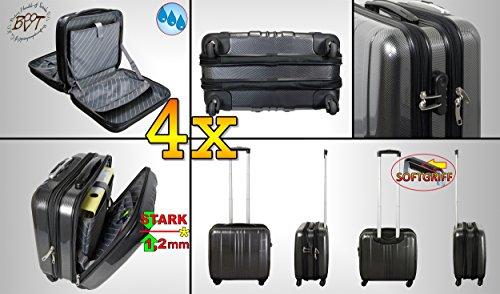 4X valigia da viaggio Business &, Pilota della valigia Set Offerta, Trolley, Acciaio Nero Mitt (Mitt Set)