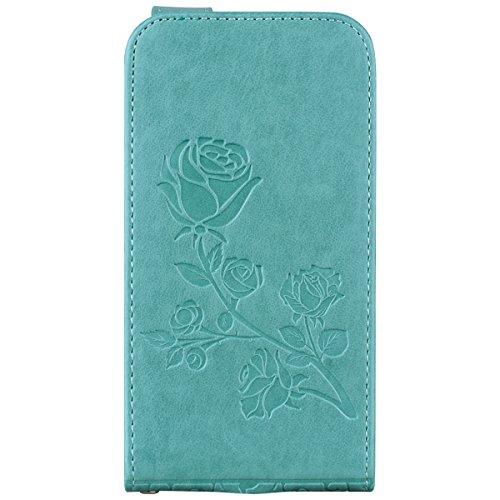 Casefirst Samsung Galaxy S5 Mini Folio Bestow over, Grip Boys Bumper Shell for Green