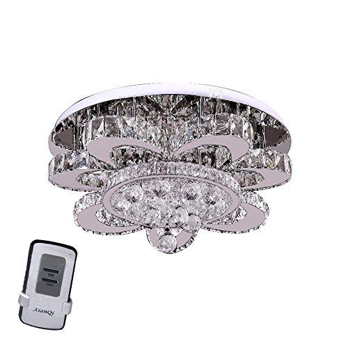 48W Blumen LED Kristall Deckenleuchte Kronleuchter Deckenlampe für Wohnzimmer Flurleuchte Wohnraum Esszimmer
