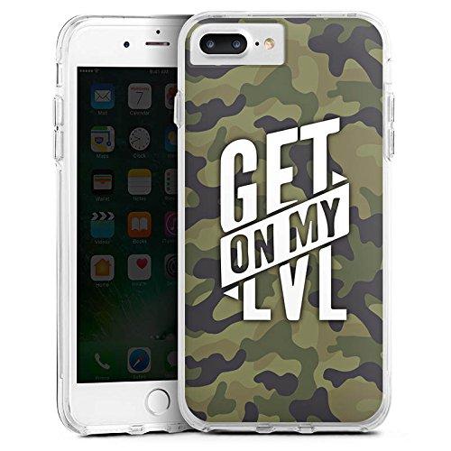 Apple iPhone 7 Silikon Hülle Case Schutzhülle Montanablack Fanartikel Merchandise Get On My Level Camo Bumper Case transparent