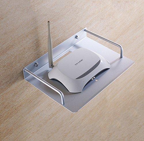 Hillhead Space-Aluminium-Netzwerk-TV-Set-Top-Box Wireless Router Telefon Rack verlängert Mini