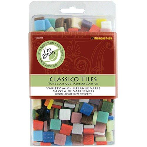 Diamond Tech Crafts vetro Classico Tile Mix colori-Assorted 8 oz