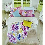 Creative Textiles Multicolour 90.5 X 98.5 Inch 100% Cotton Fantasy Bedsheet With Pillow Cover