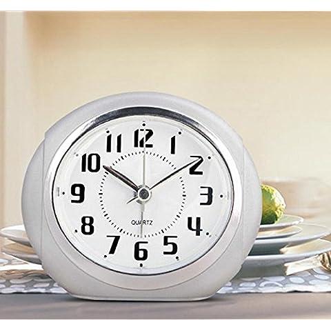Creative ZHGI silenciar a los estudiantes un pequeño reloj alarma, reloj, niño perezoso Snooze luz de noche, reloj despertador de cabecera ,