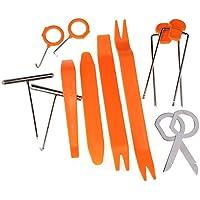 12 Unds de herramientas para montaje y desmontaje de radio y piezas del coche
