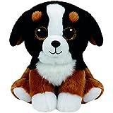 carletto TY 90245–Roscoe–Perro con ojos, Beanie Classic, 33cm, color blanco y negro