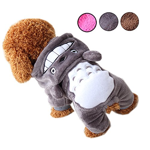 Systond Haustier Hund Kostüm Winter Katze Hoodies Hund Baumwolle Bekleidung Mantel Jumper für Welpen Kleine Mittelgroße Hunde Overall Haustier Kleidung Costumes07 Hund Hoodie