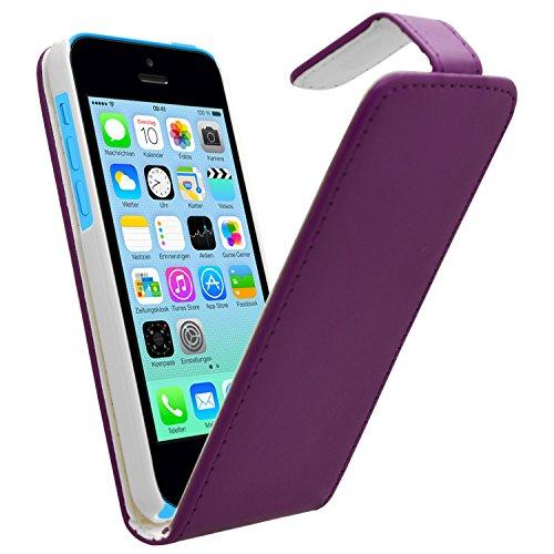 SAMRICK Speziell Leder Flip Cover Schutzhülle für Apple iPhone 5C, Violett violett