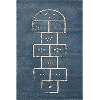 """Art For Kids 100 x 150 cm 100 por ciento polipropileno Oeko-Tex 100 """"son"""" alfombra, azul"""