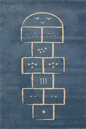 Art For Kids 100 x 150 cm 100 por ciento polipropileno Oeko-Tex 100 'son' alfombra, azul