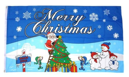 Fahne / Flagge Merry Christmas Nordpol 90 x 150 cm