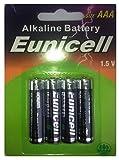 EUNICELLBASICS Alkalibatterien Typ AG Serie AG0-AG13 Alkaline (AAA LR03 Alkaline, 12 Batterien auf 3 Blistercard)