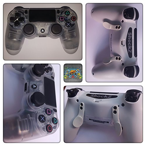 PS4 Controller Crystal - ShockZ Controller Umbau - Triggerstop - X&O Buttons - Paddel - Playstation 4