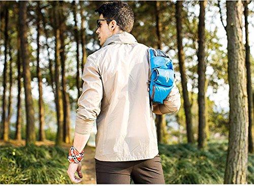 FFZH Viaggio all'aperto alpinismo borse impermeabili, bulk montagna tempo libero borsa uomo , pink black