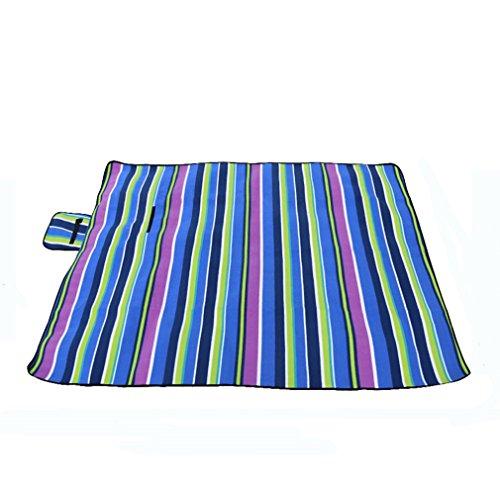 SYNMAT Wasserdicht Picknickdecke Camping Matte Portable Abendessen Zelt Matte Strandmatte Rasen Teppich Lila Striped Plus Pad Baumwolle -