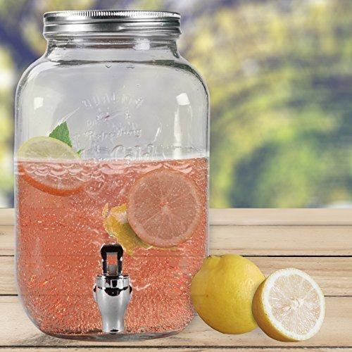 pender GLANCE mit Hahn Saftspender Getränke Dispenser Spender (1 Stück) (Kunststoff-getränke-dispenser)