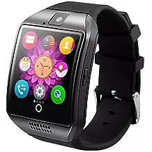 KOMN bluetooth intelligente Q18 montre avec carte caméra de TF et emplacement pour carte SIM bluetooth smartwatch téléphone intelligent pour , white -.-